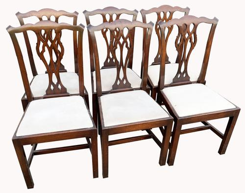 A Set of Six Mahogany Dining Chairs (1 of 4)