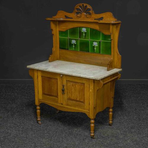 Victorian Oak Washstand (1 of 11)
