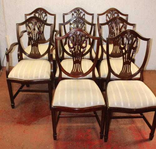 1960's Mahogany Set 8 Wheatcheaf Style Dining chairs. Pop out Seats (1 of 3)