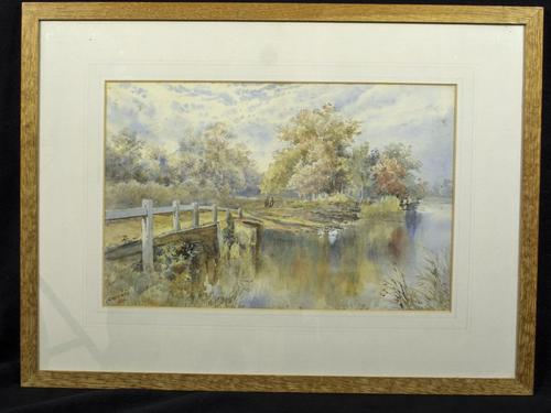 Watercolour Signed V.Williams 1898 (1 of 3)