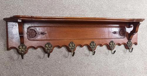 Carved Oak Continental Hanging Rack (1 of 10)