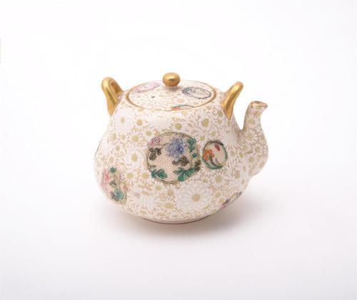 Exquisite Antique Japanese Satsuma Miniature Wine Pot - Kinkozan (1 of 4)