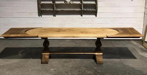 Large Oak Farmhouse Table with Extensions (1 of 30)