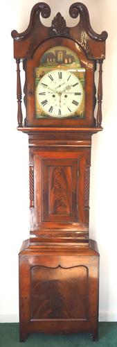 Fine English Longcase Clock Styers of Darlington 8-day Grandfather Clock with Moon Roller Dial (1 of 19)