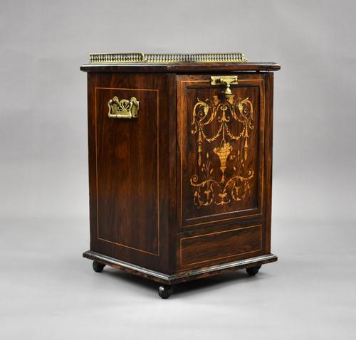 Victorian Rosewood Inlaid Coal Purdonium by Jas Shoolbred (1 of 16)