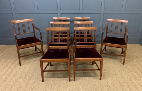 Set of 8 Georgian Mahogany Dining Chairs (1 of 16)
