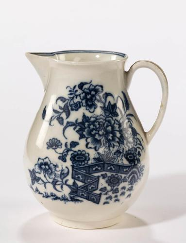 Late 18th Century Liverpool Blue and White Printed Jug (1 of 4)