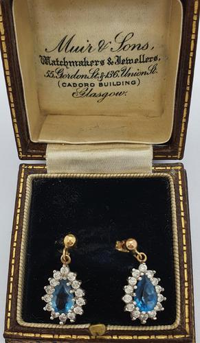Aquamarine Diamond Drop Earrings (1 of 2)