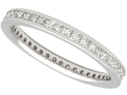 0.80ct Diamond & Platinum Full Eternity Ring - Vintage c.1960 (1 of 9)