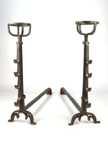 Large Pair of 16th Century Gothic Fire Dogs (1 of 7)