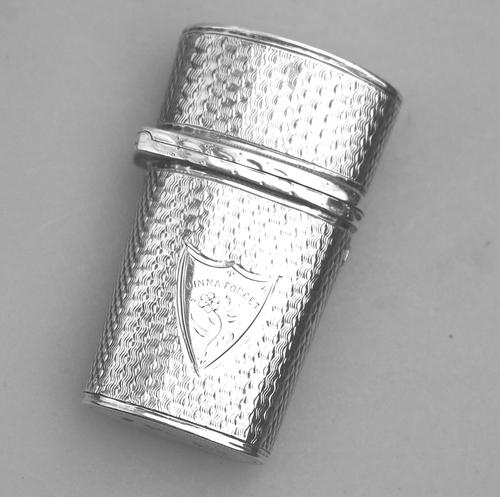 George IV Solid Silver Etui Case / Box c.1821 (1 of 7)