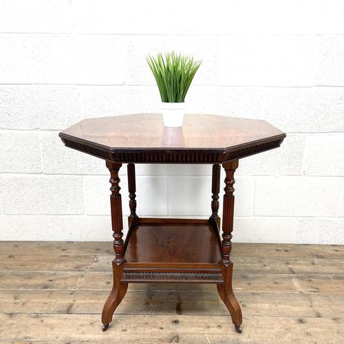 Late Victorian Walnut Octagonal Centre Table (1 of 10)