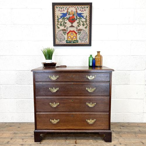 19th Century Antique Oak Chest of Drawers (1 of 9)