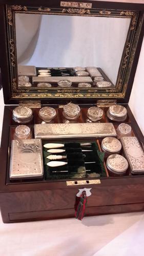 Victorian Rosewood Vanity Box (1 of 19)