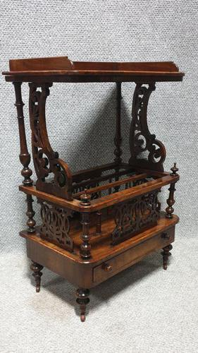 Victorian Walnut Canterbury (1 of 5)