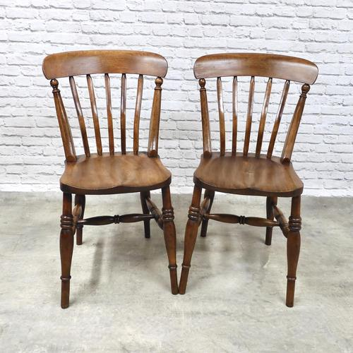 Pair of Windsor Lath Back Chairs (1 of 6)