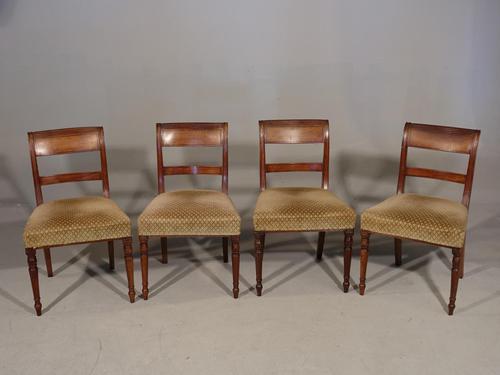 Good & Original Set of 4 Regency Period Mahogany Single Chairs (1 of 4)