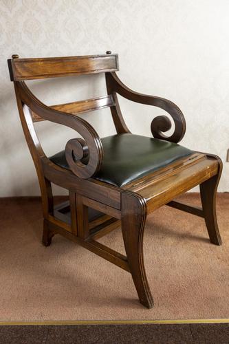 Early 19th Century Mahogany Metamorphic Library Chair (1 of 8)