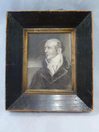 "Excellent Georgian Monochrome Watercolour Portrait ""Henry Whitford"" (1 of 9)"