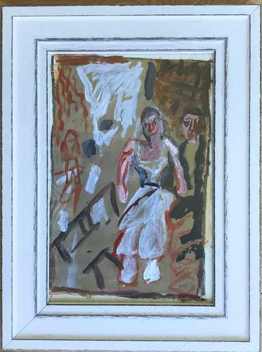 Original Gouache Painting 'an Evening Out' by Doreen Heaton Potworowski. 1920-2014. Initialled 70. Framed (1 of 1)