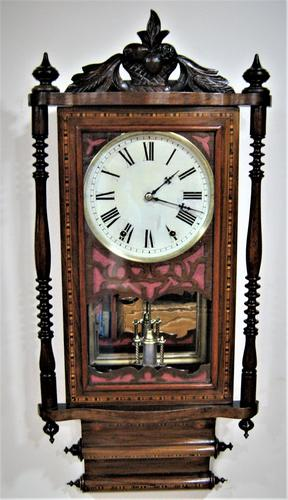 1880's Anglo-American Striking Wall Clock (1 of 6)