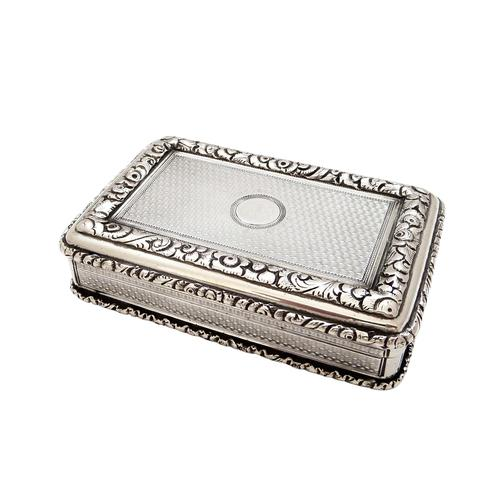 Antique Victorian Sterling Silver Snuff Box 1844 (1 of 10)