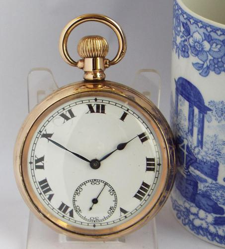 Antique 1920s Record Stem Winding Pocket Watch (1 of 5)