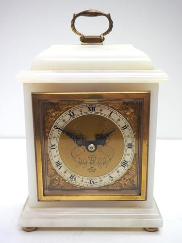 Solid Marble Vintage Mantel Clock Caddy Top Bracket Clock by Elliott of London (1 of 5)
