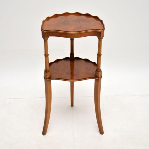 Regency Style Yew Wood Side Table (1 of 6)