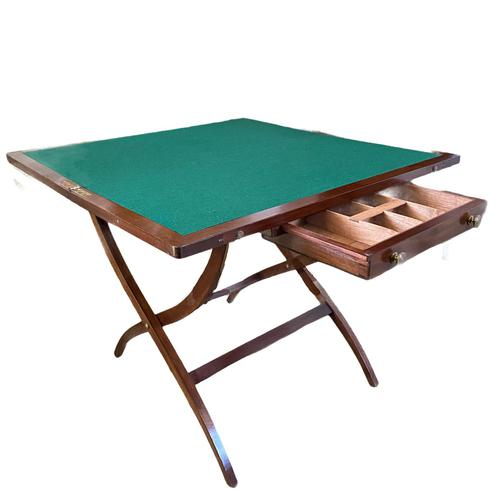 19th Century Campaign  Desk / Card Table (1 of 4)