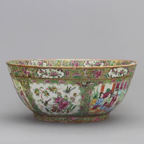 19th Century Cantonese Famille Rose Porcelain Bowl c.1880 (1 of 8)
