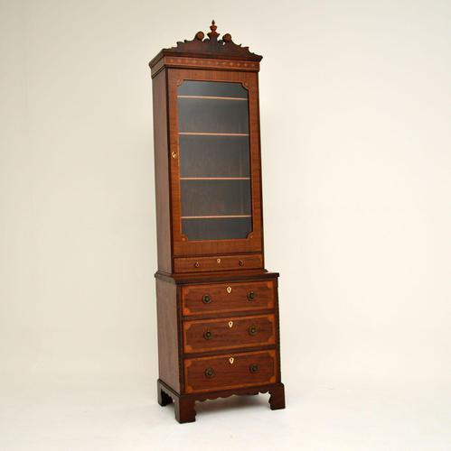 Antique Georgian Period Inlaid Mahogany Miniature Bookcase (1 of 12)