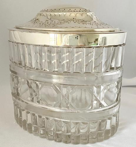 Victorian Silver Plated & Glass Box (1 of 6)