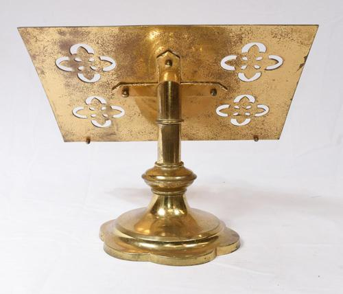 Victorian Gothic Reading Stand Antique Brass 1860 Lecturn (1 of 9)