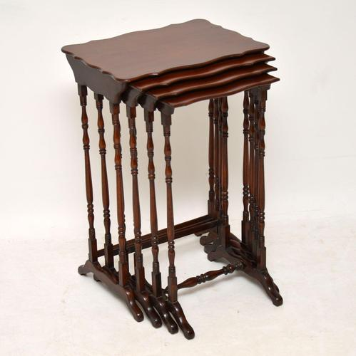 Antique Mahogany Nest of Four Tables (1 of 12)