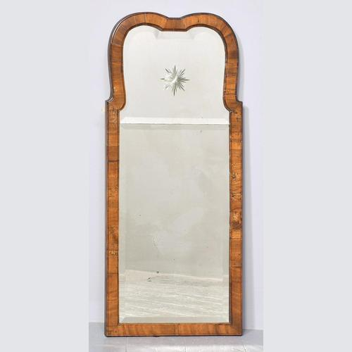 Queen Anne Style Walnut Wall Mirror c.1900 (1 of 6)
