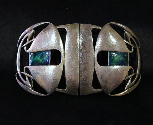 Archibald Knox Liberty & Co Cymric Silver Belt Buckle (1 of 7)