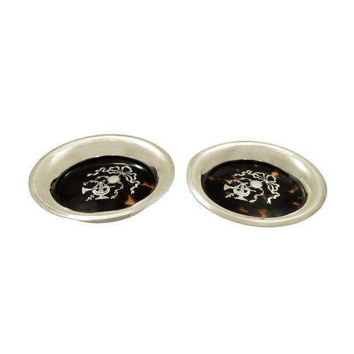 Pair of Antique Sterling Silver & Tortoiseshell Pin Trays 1917 (1 of 8)