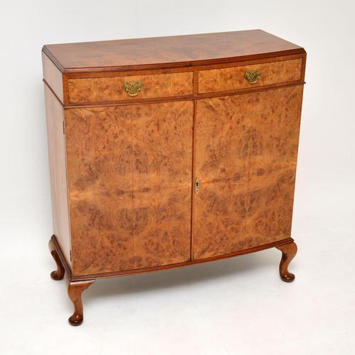 Antique Burr Walnut Two Door Cabinet (1 of 8)