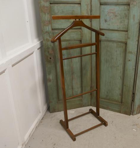 Art Deco Gentleman's Floor standing Suit Hanger or Dumb Butler (1 of 1)