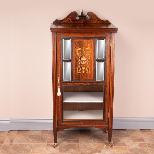 Edwardian Inlaid Music Cabinet (1 of 12)