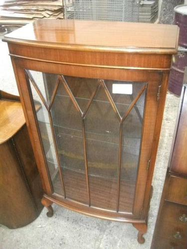 Mahogany Display Cabinet on Queen Anne Legs (1 of 3)