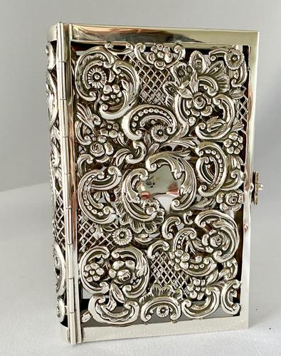 Sterling Silver Book Cover. London 1910. (1 of 8)