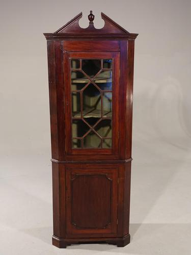 Attractive Early 20th Century Georgian Style Mahogany Double Corner Cupboard (1 of 6)
