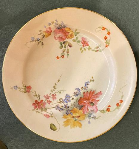 Royal Worcester 'Blush Ivory' Floral Painted Plate (1 of 2)