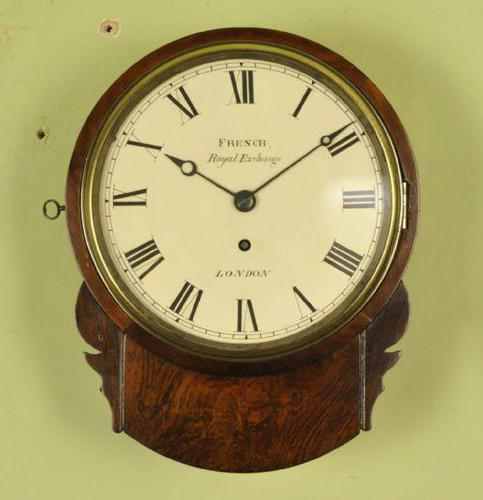 Excellent 8 Inch Rosewood Fusee Dial Clock - French , London (1 of 10)