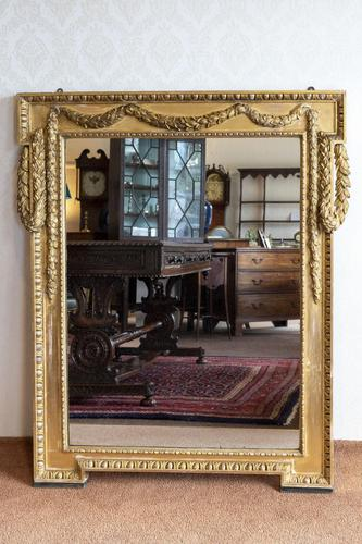 Very Fine 19th Century Carved Giltwood Mirror of Elegant Proportions (1 of 4)