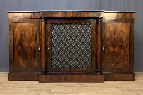 Beautiful Regency Rosewood 3 Door Breakfront Cabinet (1 of 11)