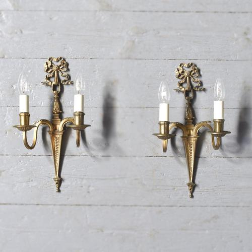 Pair of Adam Style Wall Sconces (1 of 7)