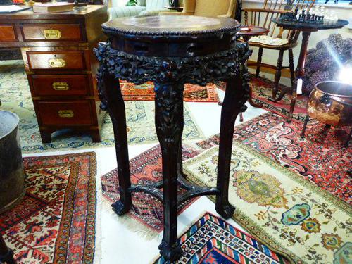 Large example of a Chinese Padouk Wood Stand c.1880 (1 of 3)